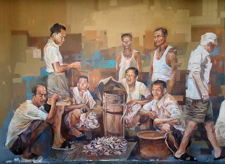壁画 - 土产交易
