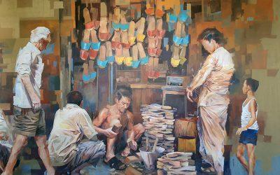 壁画 – 木屐店